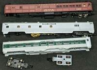 Trix, Rivarossi, N Scale Lot of 3 for Repair. PRR Penn Central coaches . combine