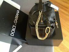 Dolce & Gabbana Handbag (Borsa a Mano) New Celtic + Vernic,Black Leather/Lacquer