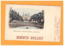 MONTE-CARLO (MONACO) CASINO avant 1904 / Publicité BISCUIT GUILLOUT La Régente