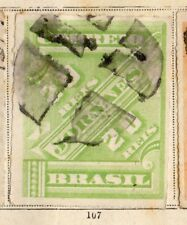 Brazil 1889 Early Issue Fine Used 20r. Postal Stationary Piece 095419