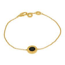 Bvlgari Bvlgari 18K Yellow Gold With Onyx Bracelet