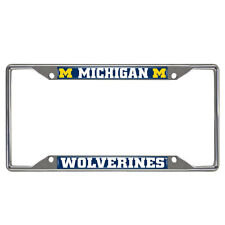 New NCAA Michigan Wolverines Car Truck Chrome Metal License Plate Frame