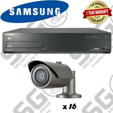 Samsung 2MP Network PoE HD 1080p 16 Bullet Camera's & 16CH NVR 4TB CCTV Package