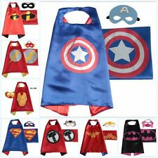 Baby Kids Halloween Superhero Cape & Mask Girl Party Costume Boy Set Superman