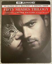 Fifty Shades Trilogy (4k Blu-ray/Blu-ray, Steelbook, Read Description)