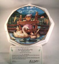M.I. Hummel Colllectors Plate Feathered Frie Gentle Friends Danbury Mint Coa Box