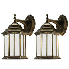 2x Outdoor Wall Lantern Light Waterproof Sconce Porch Lighting Lamp Fixtures