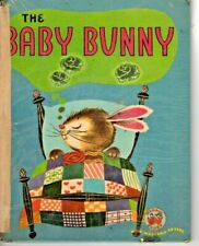 VINTAGE - THE BABY BUNNY  - 1951 WONDER BOOKS  - VERY GOOD
