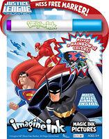 NEW 24pg DC Comics Justice League Imagine Ink Magic Pictures Activity Book