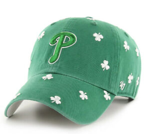 Philadelphia Phillies MLB St. Patrick's Day Tourist Clean Up Adjustable Hat Cap