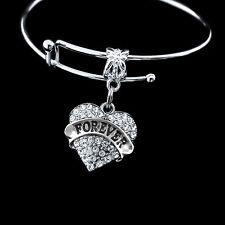 Forever Bracelet  Forever crystal heart bracelet Show your love forever  gift