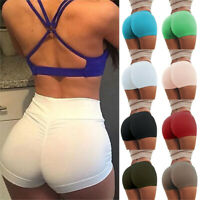 Women Yoga Hot Shorts Push Up Ruched Gym Workout Fit Sport sFitness Casual Pants