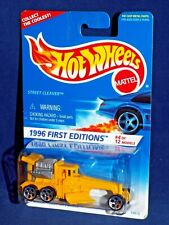 Hot Wheels 1996 First Editions #4 Street Cleaver Yellow w/ Grey Motor 5Dots