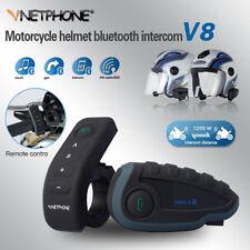 Waterproof 1200m Bluetooth Motorcycle Helmet Headset NFC Intercom 5 Riders V8