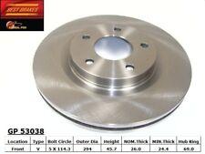Disc Brake Rotor-GT Front,Rear Best Brake GP53038