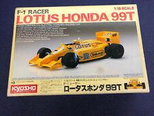Vintage Kyosho F1 Racer 1/18 Lotus Honda 99T RC Formula One 1