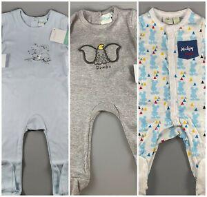 disney baby sleepsuit romper all in one babygrows vest dumbo winnie mickey SIZES