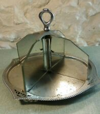Vintage Cake Server Stand Glass and metal