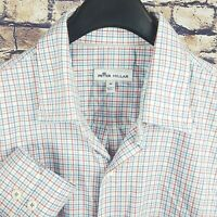 PETER MILLAR Mens Multi-Color Check Button Down Shirt Medium M