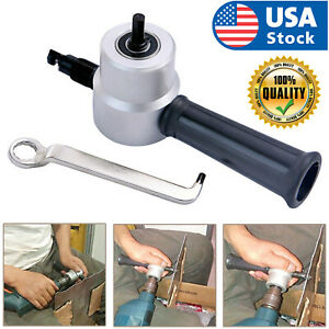 Dual Head Metal Sheet Nibbler Cutter Plastic Handle Wrench Hole Saw Drill Tool