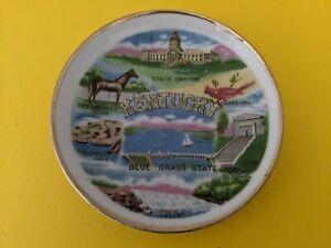 Vintage Souvenir MINI Plate KENTUCKY  The Blue Grass State
