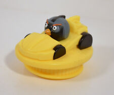 "2014 Bomb Angry Birds Go Yellow Vehicle Car 2.5"" Burger King Movie Action Figure"