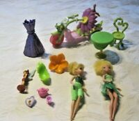 "Disney Fairies Lot ~ Tinkerbell 5"" Dolls, Furniture, Trike Motorcycle & Access."