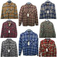 Outdoor Life Men Flannel Shirt Jacket Faux Sherpa Lining Button Down Retail $65