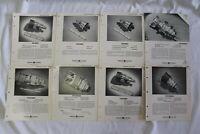 General Electric GE Description & Rating Sheets 1950s Triode Tetrode 8 Different
