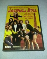 Jacques Brel is Alive and Well and Living in Paris (DVD, Movie Musical RARE oop