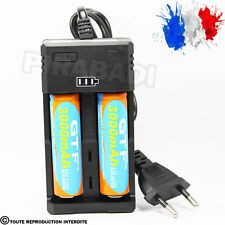 2 PILES ACCU RECHARGEABLE 18650 3.7v 3000mAh BATTERY BATTERIE + CHARGEUR RS-99