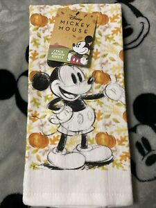 Best Brands Disney Mickey Mouse 2 Pack Kitchen 100/% Cotton Tea Towels Red Background