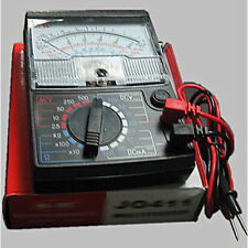One AC DC 2.5V-500V Black Volt Ohm Battery Testing Analog Multimeter Multitester