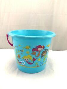 Oversized Mermaid themed sand toy bucket Easter gift basket NWT