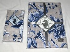 "Waterford Blue Leaf 60"" x 84"" Tablecloth plus Four Napkins NEW Sealed"