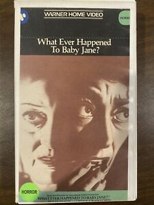 What Ever Happened To Baby Jane? VHS Tape Cut Box Horror Movie Joan Crawford