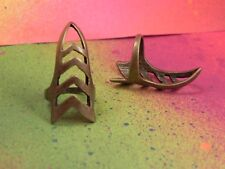 Quantity 3 Finger Tip Metal Nail Armor Bronze Pointed Rings Gothic Knuckle