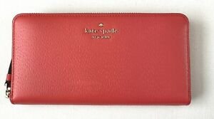 New Kate Spade New York Sam Large Continental Leather wallet Stoplight
