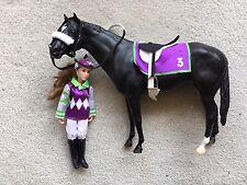 Rare Retired Breyer Horse #1440 Let's Go Racing Black Secretariat Doll Tack Set
