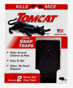 New Tomcat Small Snap Animal Trap For Mice 2 pk Safe for Pets Children 0361510