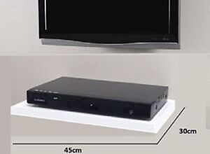 Floating Media Shelves Shelf For DVD SKY BOX TV AV Xbox Wall Mounted Matt White