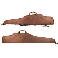 Tourbon Rifle Case Gun Slip Bag Scoped Cover Soft Padded Genuine Leather Vintage