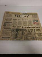 Vintage Newspaper FLORIDA TODAY 1982 - NASA NEWS - Columbia Delivers EUC