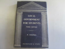 Good - Local government for students - Stones, Percy 1968-01-01 Covered in clear