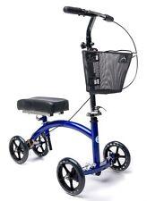 KneeRover Deluxe Steerable KneeCycle Knee Walker Scooter Crutch Alternative Blue