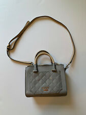 Womens Guess Handbag Satchel Purse Medium with Detachable Strap Gray