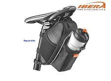 Bicycle Saddle Bag Bike Seat Pouch Bottle Pocket Cycling Reflective IBERA SB17M1