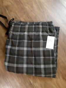 NWT Men's Croft & Barrow Extra Soft Fleece Sleep Pants Size 2XLT Black Plaid