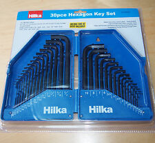 30 Pce Hexagon Key Set  AF & Metric Sizes Hilka Hex Allen Keys Wrench Tools