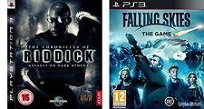 Chronicles Of Riddick Assault  Dark athena USED & falling skies NEW&SEALED  PAL